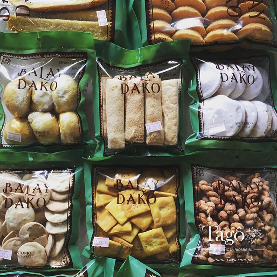 Cookies and other local favorites at the pasalubong shop at Balay Dako.
